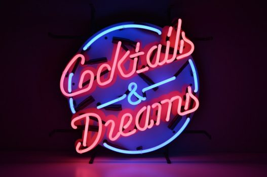 Insegna al Neon Cocktails & Dreams