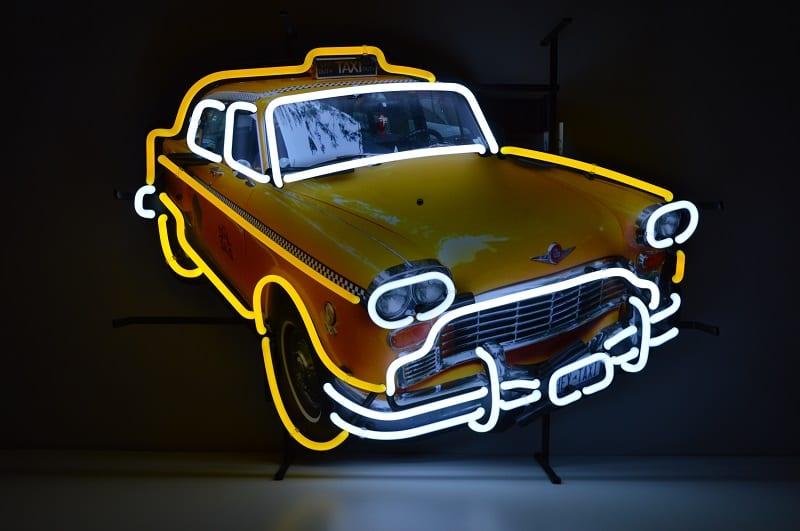 Insegna al Neon Taxi Yellow