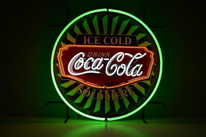 Insegna al Neon Coca Cola