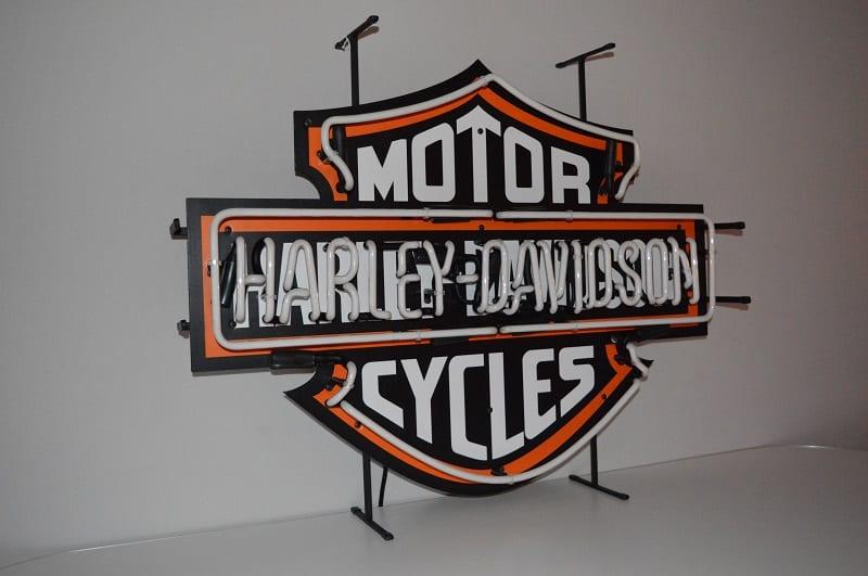 Neon modello neon harley davidson moto american style lusima