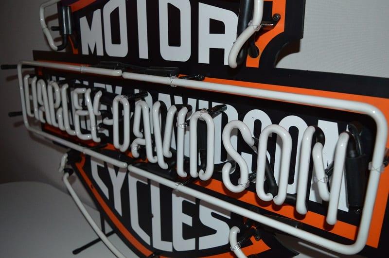 Neon modello neon harley davidson logo american style lusima