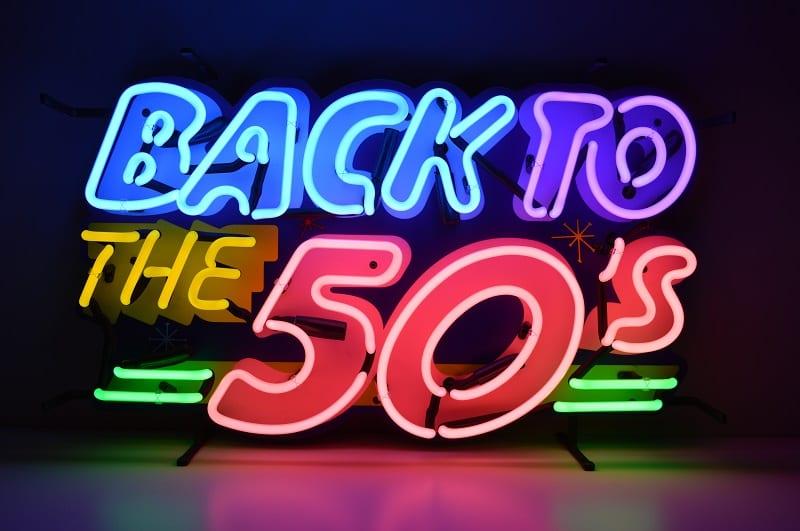 Insegna al Neon Back to the 50'