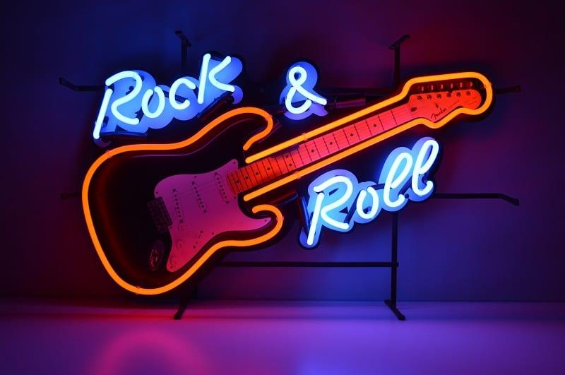 Insegna al Neon Rock e Roll