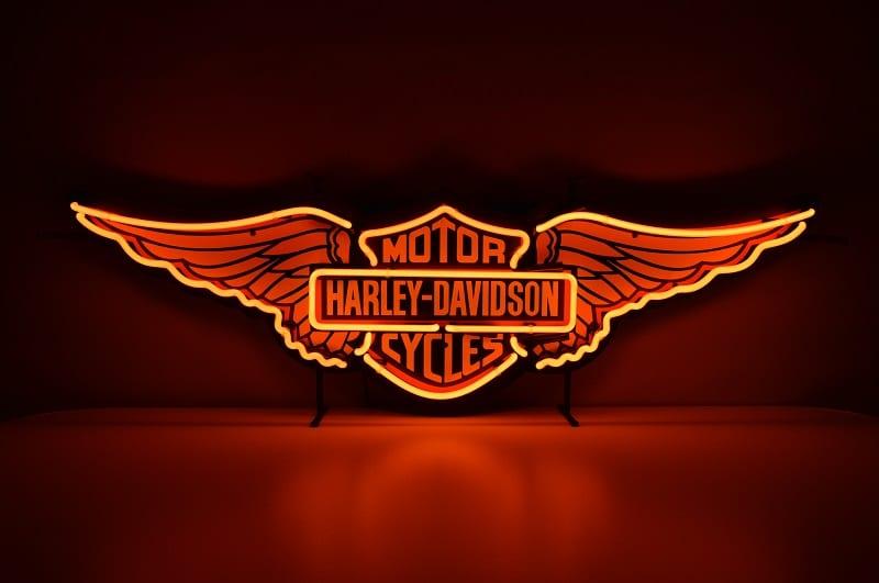 Insegna al Neon Harley Davidson
