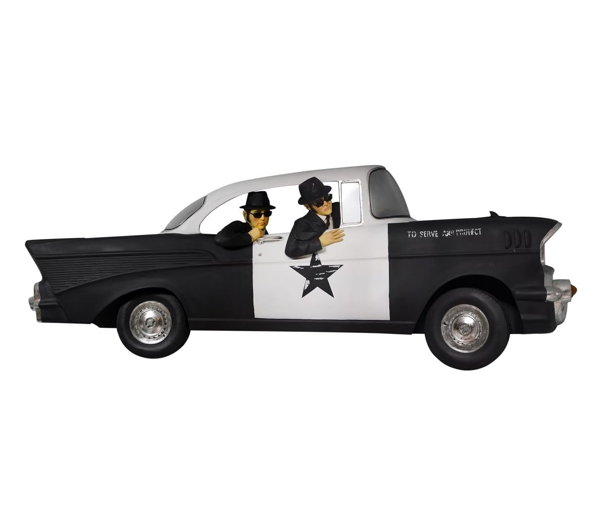 The Blues Brothers in the car