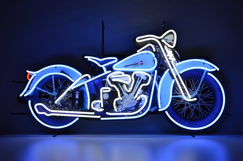Insegna al Neon Harley Davidson Moto