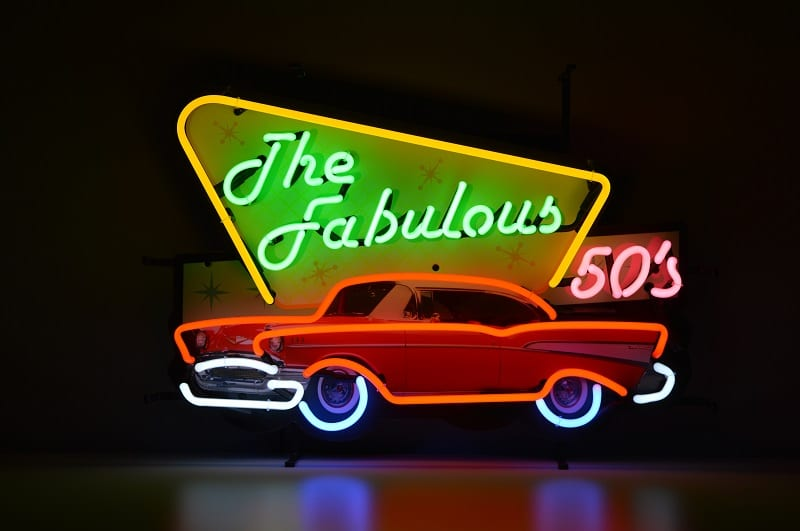 Insegna al Neon The Fabulous 50'S
