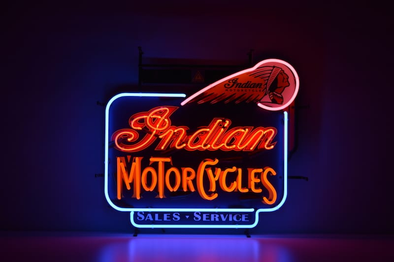 Insegna al Neon Indian Motorcycles