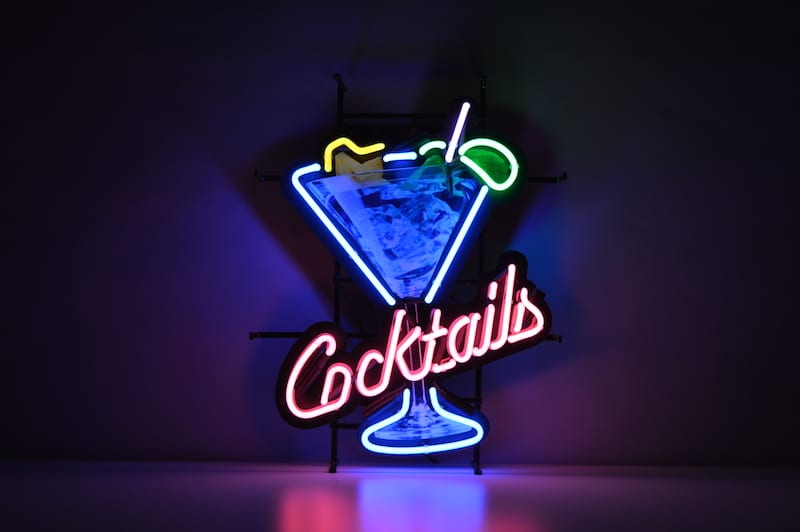 Insegna al Neon Cocktails & Dreams Icecold